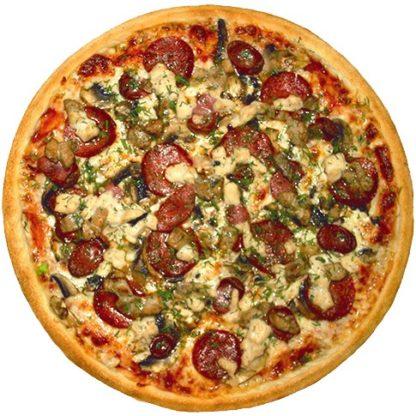Пицца Охотничья в кафе Микс