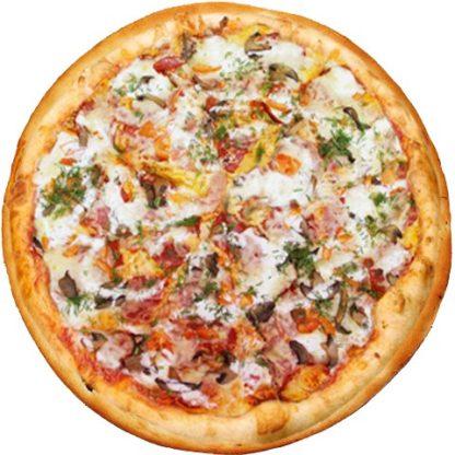 Пицца от шеф повара в кафе Микс