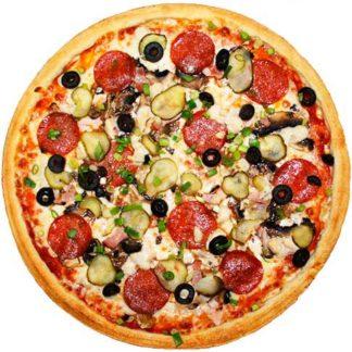 Пицца Прожорливый курьер в кафе Микс