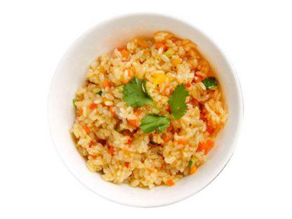Рис по пекински с овощами в кафе Микс