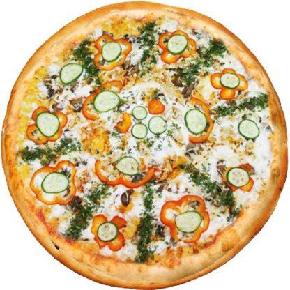 Пицца с курицей в кафе Микс