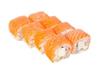 Сложные роллы Сливочный лосось в кафе Микс